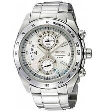 Seiko Criteria SNN177 P1 Silver White Dial Men's Chronograph Quartz Watch