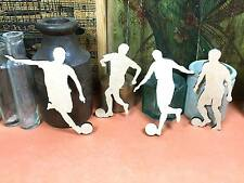 WOODEN FOOTBALL STRIKERS SET Shapes 10cm (x 4) wood shape crafts blanks