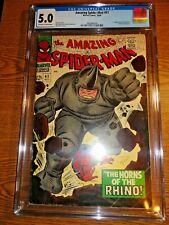 Amazing Spider-man #41 Hot Key CGC 5.0 VG/F 1st Rhino Sinister Six Romita Marvel