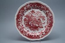 Speiseteller D 25,5 cm Wood´s Burslem  Seaforth rot red