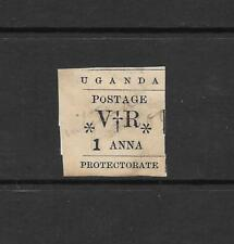 1896 Queen Victoria SG54  RARE  1anna. Black Small O in Postage Used  UGANDA