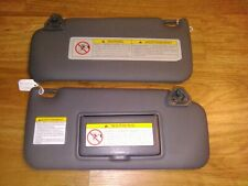 97-04 Nissan Pathfinder Infiniti QX4 Sun Visor Sunvisor Shade Set Vinyl Gray OEM