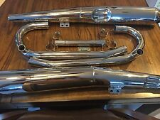 "VINTAGE BMW NEW ""COMPLETE"" CHROME EXHAUST PACKAGE /6-R100RT MUFFLERS, PIPES ETC."