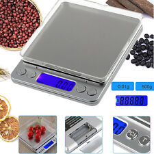 0.01-500g Mini LCD Digital Waage Feinwaage Taschenwaage Goldwaage Präzisionwaage