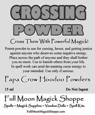 Crossing Powder Hoodoo Voodoo Ritual Dust Potent Powder Used For Curses or Hexes