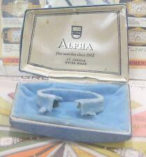 Shaped Factory Display Box- L@K! N/R Unusual 1950s Alpha 17 Jewels Asymmetric