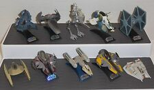 STAR WARS TITANIUM SERIES 1990's/2000's 10 Ship Lot SLAVE I Y-WING TIE FIGHTER