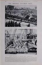 1897 BOER WAR TURKISH NAVY HAMIDIEH BOAT HOIST SELAMLIK FESTIVAL MARINES PARADE
