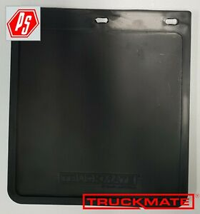 2 TRUCKMATE PLAIN MUD FLAPS BLACK 250mm x 230mm 10x9 TRAILER 4x4