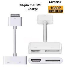 iPad iPhone Dock 30-pin to HDMI Adapter Digital AV Converter Charging iOS 9.3.5