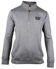 CAT Caterpillar Cañón 1/4 Zip Sudadera Hombre Resistente Trabajo Suéter