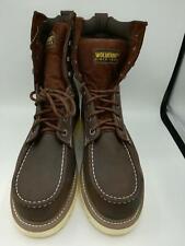 "Wolverine Men Loader 8"" Steel-Toe Wedge Boot, Dark Brown, Size 10.5 M"