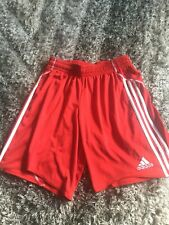 Gents Red Adidas Shorts Size Medium Good Condition