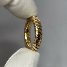 Vintage Bvlgari Tubogas 18 Karat Yellow, Rose, White Gold Tricolor Band Ring