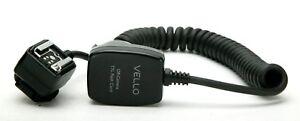 Vello Off-Camera Flash Cord For Canon TTL. Metal Hot Shoe & Lock. Unused. Useful