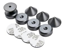 GREY 4 x Speaker Spikes + 4 x Spikes Pads Chamfered + 3M adhesive pads