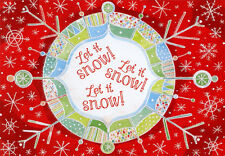 Let it Snow Snowflakes Box of 18 Christmas Cards by Designer Greetings