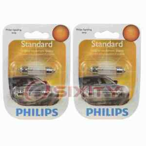 2 pc Philips License Plate Light Bulbs for Mercedes-Benz 190D 190E 200D 220 co