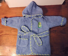 Baby Connection Frog & Dragonfly Blue Infants Newborn Hoodie Bath Robe - Unisex
