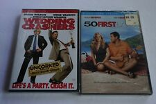 Lot of 2 50 FIRST DATES DVD, 2004, - Widescreen + Wedding Crashers Uncorked NEW