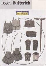 Butterick Pattern #5371 for Medieval Wrist Braces, Pouches,Corsets & Belts Sz XM