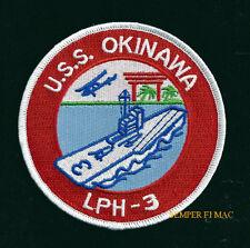 USS OKINAWA LPH-3 PATCH US NAVY MARINES BATTLE WW 2 FMF MAW APOLLO 15 RECOVERY