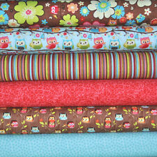 Happy Flappers Brown 6 Fabric Fat Quarters, Kelly Panacci, Riley Blake, 1.5 yd