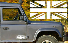 Union Jack Bandera Adhesivo X 2 pegatina de vinilo de Land Rover Wolf - 20 Cm X 10 Cm Grande