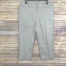 Ann Taylor Petite Beige Khaki Crop Capri Pants Women's Size 10 P