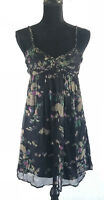 LUX Women's Spagetti Strap Floral Empire Waist Summer Dress Size Small
