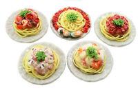Mixed 5 Assorted Spaghetti Dollhouse Miniature Food,Tiny Food, Barbie Food