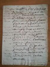 22 avril 1742 ancien acte notarié - cachets - 16 pages
