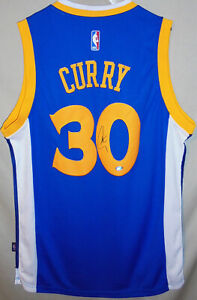 -Stephen Curry- Steiner Certified Signed/Autograph GS Warriors Basketball Jersey