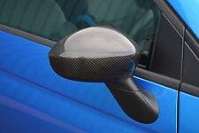 FIBRA Di Carbonio Specchietto Laterale Trim Set comprende TAPPI PER FIAT 500 & ABARTH 500