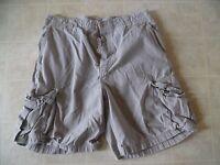 VTG J Crew Men's Button Fly Beige Casual Khaki  Cargo Shorts Size 33
