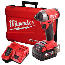 Milwaukee 18V Fuel Brushless 1/4 Hex Impact Driver M18 Battery One-Key Combo Kit