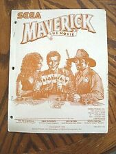 Sega Maverick the Movie Pinball Machine Original Manual & Schematics 1994