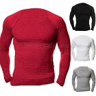INCERUN Men's Casual Crew Neck Pullover Jumper Gym Knit Fitness T-Shirt Tee Top
