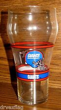 Vintage Enjoy Coca-Cola NFL NY GIANTS Logo Fountain Style Glass Unused Mint