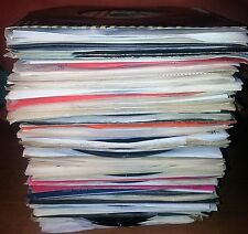 Lot of 100 PLAYABLE & SLEEVED 45's - 50's to 90's - Rock, Soul, Pop, EVERYTHING!