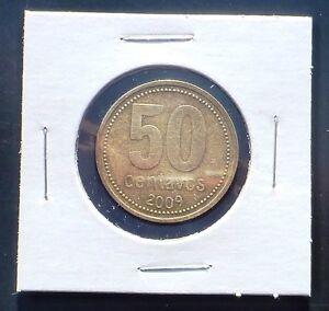 Argentina 2009  50 Centavos. Circulated