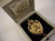 Colgante guardapelos antiguo Oro 18 k y diamantes  siglo XIX