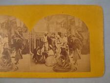 Stereoview James Cremer Philadelphia French Fishermen Nets Rope 7 Men 2 Women O