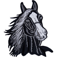 Horse Patch Embroidered Badge Iron Sew On Pony Riding Equestrian Clothes Jacket