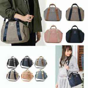 Japan Anello Women Fashion Shoulder Bag Handbag Linen Multi-function Clutch Bags
