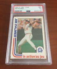 1982 OPC Baseball Jim Palmer #81 Psa 5 EX