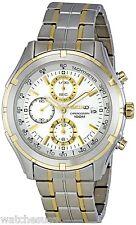 Seiko Men's SNDC38 Stainless Steel Chronograph Watch