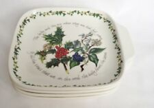 Portmeirion The Holly and The Ivy Canape Dishes x 4 - NEW and Boxed