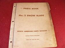 Massey Ferguson 3 Snow Blade Original Dealer's Parts Book