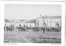 """*Postcard-""""Union Army Camp, 1862""""-1st Wisconsin Bat./LA Pen-*Baton Rouge (A16-2)"""